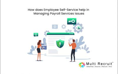 How does Employee Self-Service help in Managing Payroll Services issues